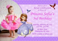 Sofia the First Invitation Birthday Party by ForLittleKids on Etsy 3rd Birthday Parties, Happy Birthday, First Birthday Invitations, Sofia The First, Princess Sofia, High Resolution Photos, The One, First Birthdays, Etsy