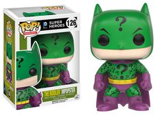 - The villains of Gotham are dressing up like Batman and pretending to be the famed Caped Crusader! This Batman Impopster Riddler Pop! Vinyl Figure features the Riddler applying his style to Batman's