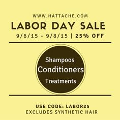 2015 Labor Day Weekend Sale. Take 25% of with Code LABOR25 at www.hattache.com