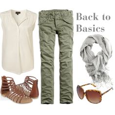 Cargo Pants! Back to Basics, created by #officialpeta on polyvore.com