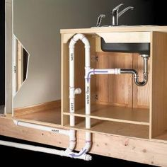 """How to Plumb an Island Sink (""""Yearnings"""" - oh to have a proper kitchen...)"""