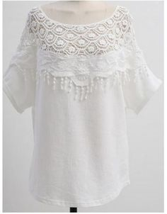 Cute Floral Crochet Lace Collar Blouse