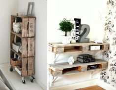 Palette bois deco on pinterest pallet beds pallet tables and pallet sofa - Deco en bois de palette ...