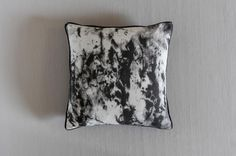 Perch & Parrow | Dolomite marble Cushion in black and white £38