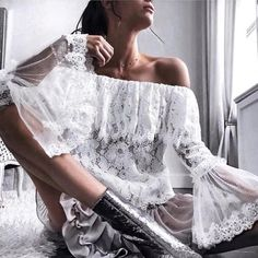 """13 curtidas, 2 comentários - modacomborogodo (@modacomborogodo) no Instagram: """"Mulher rendeira @ac_collezione #top #renda #fashionista #fashion #inspiration #fashionable #look…"""""""