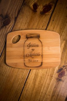 Personalized Mason Jar Cutting Board on BourbonandBoots.com