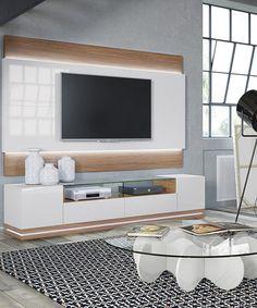 Manhattan Comfort Maple Cream Vanderbilt TV Stand & Lincoln LED Floating TV Panel | zulily