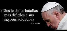 Pope Francis, soldier for humanity. Catholic Religion, Catholic Quotes, Papa Francisco Frases, Pope Francis Quotes, Soldier Love, Quotes To Live By, Life Quotes, Papa Quotes, Inspirational Words Of Wisdom