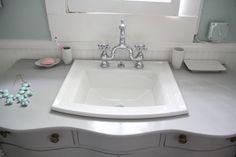 love this bathroom sink Kohler Archer sink under $200 at Lowes