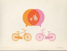 here is the bicycle idea.  perfect colors too, right?!