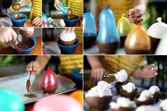 Easy chocolate balloon cups - FUN!