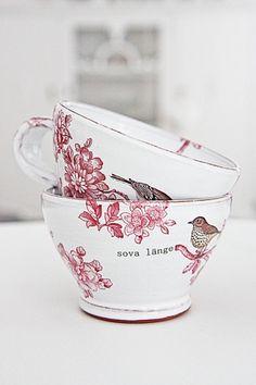 Pretty bird cups