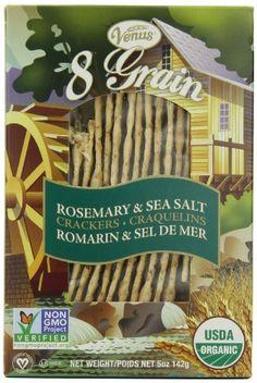 Venus 8-Grain Organic Flatbread, Rosemary & Sea Salt 5-Ounce Boxes (Pack of 6) - http://goodvibeorganics.com/venus-8-grain-organic-flatbread-rosemary-sea-salt-5-ounce-boxes-pack-of-6/