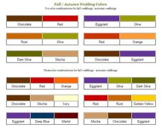 So many rich color combinations for a fall wedding