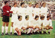 Campeón de Liga temporada 71-72. De pie: García Remón, González, Benito, Verdugo, Grosso, Zoco. Agachados: Amancio, Pirri, Santillana, Velázquez y Aguilar