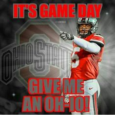 It's game day give me an Oh - I O Ohio State Logo, Florida State University, Florida State Seminoles, Oregon Ducks Football, Ohio State Football, Ohio State Buckeyes, Oklahoma Sooners, American Football, College Football