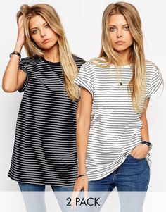 ASOS+The+Easy+T-Shirt+in+Stripe+2+Pack+Save+15%