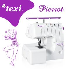 Overlock Texi Pierrot - 3, 4-thread overlock machine for all types of materials, with differential feed. Very fast, durable and easy to use. It has all the adjustments (stitch length and width and regulation of differential feed). #texisewing #yeswesew #texioverlock #serger