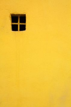 Yellow wall with window