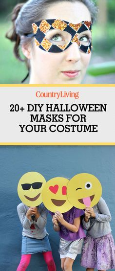 Have the best get-up without spending a fortune. These DIY Halloween masks can help complete any costume!