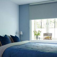 Blue Bedroom, Trendy Bedroom, Master Bedroom, Navy Blue Walls, Light Blue Walls, Blue Wall Decor, Teen Room Decor, Inspiration Wall, Bedroom Lighting