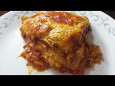 Lasaña con salsa echa en casa