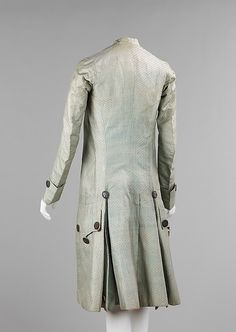 Suit Date: 1765–75 Culture: French Medium: silk, metal, cotton