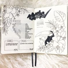 Although I absolutely adored last months 'beautiful wilderness' weekly spreads.. I have once again changed up my weekly layout.. . . I've decided to create a running task list just so it is cohesive to my dailies. . . This month's theme will be Tropic Paradise. . .