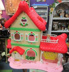 Strawberry Shortcake doll house. From Vendor 352 in booth 45. Priced at $89.00.  ~ The Brass Armadillo Antique Mall in Denver, CO. 303-403-1677 ~