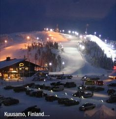 Kuusamo, Finland - The Best Winter Resorts of the World Cozy Christmas, Christmas Holidays, Family Tree For Kids, Lapland Finland, Winter Pictures, Town And Country, Holiday Time, Best Cities, Winter Wonderland