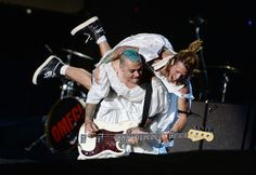 Dougie Poynter and Matt Willis of McBusted perform on stage at British Summer Time Festival at Hyde Park on July 6, 2014 in London, United Kingdom.