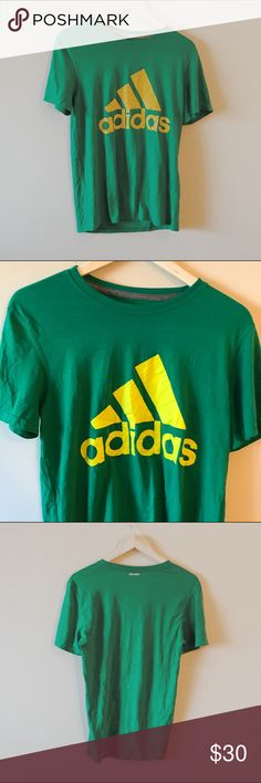 Vintage inspired • Green old school Adidas t-shirt Super soft vintage like cotton material. official Adidas wear. great condition. Absolutely no rips/tears, stains or fading. Bright green, perfect for St. Patrick's day! size men's x-large. Adidas Shirts Tees - Short Sleeve