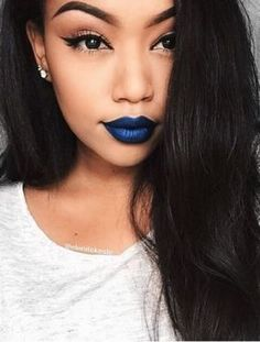 makeup Blue lipstick - The Best Lipsticks You Need This Holiday Season - Hair Clipart, Blue Lipstick, Hair Setting, Best Lipsticks, Blue Makeup, Makeup Blog, Her Hair, Makeup Looks, Eyeshadow