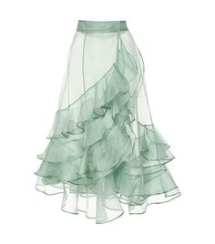 M'O Exclusive Mar Dulce Silk Organza Skirt/Jupon by Johanna Look Fashion, Fashion Details, High Fashion, Womens Fashion, Fashion Tips, New Yorker Mode, Trends 2018, Mode Inspiration, Mode Outfits