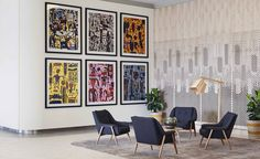 Look inside Melbourne's latest Art Series Hotel, The Larwill Studio gallery - Vogue Living Melbourne Hotel, Melbourne Art, Melbourne Australia, Brisbane, Sydney, Australia Wallpaper, Vogue Living, Travel Wallpaper, 2015 Wallpaper