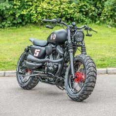 Harley Davidson Sportster Por Shaw velocidad y la costumbre