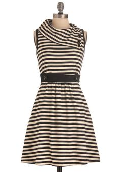 Coach Tour Dress in Stripes