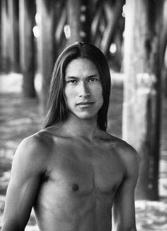 Native American model Rick Mora