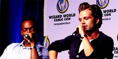 Sebastian Stan | Being a cutie | He was talking about what happened when his pants ripped | LAwl.