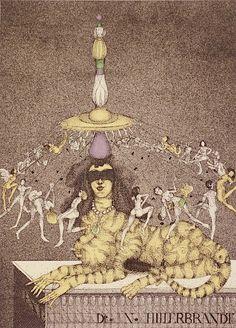 Vladimir Gazovic : Human Merry-Go-Round (Ex Libris) at Davidson Galleries