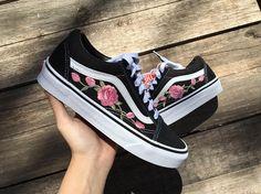 Pink Roses Custom Vans