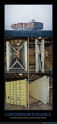 CONTENEDOR PLEGABLE - Un invento que ahorra espacio y ayuda al medio ambiente