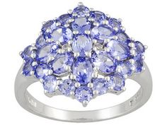 Tanzanite 2.84ctw Oval And Round With Round White Topaz Accent Sterling Silver Ring Erv $127.00