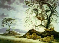 Hidden Lions Optical Illusion optical illusion