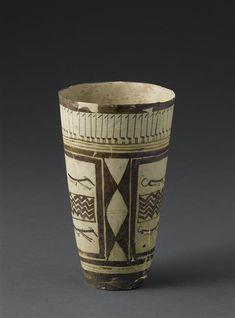 Triangle Wave, Ancient Persia, Flamingo Bird, Susa, Virtual Museum, Grand Palais, Decoration, Ceramic Pottery, Terracotta