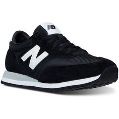 New Balance Women's 620 Casual Sneakers from Finish Line ($75) ❤ liked on Polyvore featuring shoes, sneakers, black, new balance footwear, retro sneakers, mesh sneakers, new balance shoes and mesh shoes
