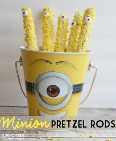 Minion Pretzel Rod Snacks
