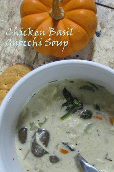 Chicken Basil Gnocchi Soup Recipe - Daily Dish with Foodie Friends Friday