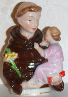 Religion and Dolls : 2012 -2013 Catholic Year of Faith as seen by Mary O'Neill Doll Museum: Saint Anthony of Padua porcelain figurine