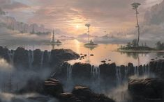 Fog over the water by *Fel-X on deviantART #fantasy #setting